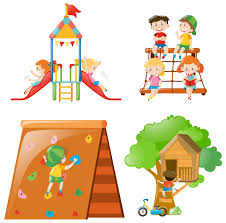 kids playing at diffe play stations