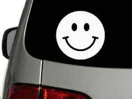Smiley Face Vinyl Decal Car Window Wall Truck Sticker Choose Size Color Ebay