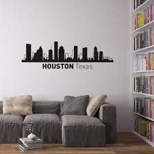 Houston City Skyline Wall Art Vinyl Revolution