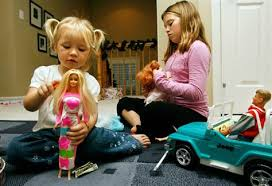 nearly 50 years old barbie bounces