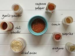 homemade taco and chili seasoning