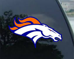 Denver Broncos Decal Etsy