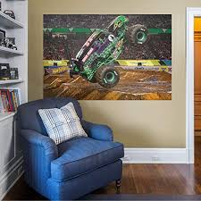 Amazon Com Fathead Grave Digger Mural Huge Officially Licensed Monster Jam Removable Graphic Wall Decal Home Kitchen
