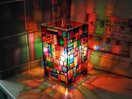 faux stained glass mosaic luminary