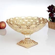 creative high feet gold glass fruit