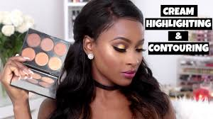 how to cream contour highlight with
