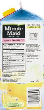 tropicana pink lemonade nutrition facts