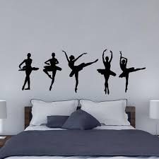 Ballet Ballerina Dancers Wall Decal Girls Bedroom Wall Decal Vinyl Decor Art Sticker Removable