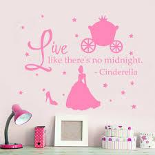 Cinderella Quote Wall Decals Princess Shoes Decal Nursery Girl Room Decor Mr357 Wandtattoos Wandbilder