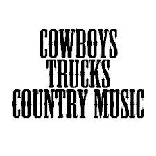 Cowboys Trucks Country Music Cowgirl Vinyl Sticker Car Decal