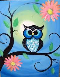 Pin by Ada Bailey Stamps on I love owls | Owl painting, Canvas painting  projects, Art painting