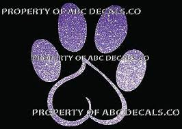 Vrs Dog Heart Makes Paw Print Puppy Rescue Adoption Car Decal Metal Sticker Ebay