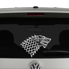 House Stark Game Of Thrones Decal Window Wall Wolf Sticker Bedroom Black For Sale Online Ebay