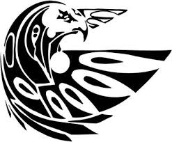 Tribal Eagle Stickers 21 Tribal Animals Decal Tribal Animals Sticker Car Decal Car Sticker Vinyl Decal Vinyl Sticker Window Sticker Window Decal Wall Graphics