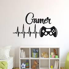 Game Controllers Wall Decal Boys Room Playstation Wall Sticker Video Game Design Wall Sticker Gaming Controller Vinyl Art Ay1445 Wall Stickers Aliexpress