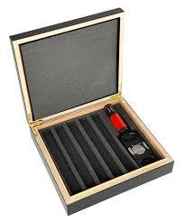 visol bergoff five cigar humidor gift