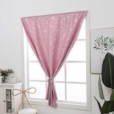 Kids Bedroom Flower Pattern Short Curtain Window Blackout Curtains Drapes Stick On Wall Easy Usage Walmart Com Walmart Com