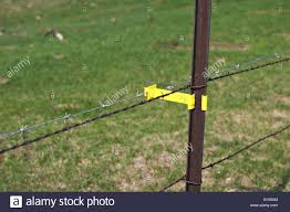 Wisconsin Near Lake Geneva Plastic Holder For Electric Barbed Wire Stock Photo Alamy