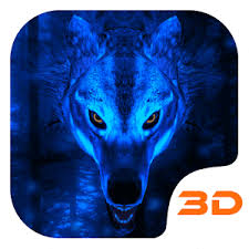 ice wolf 3d theme 1 4 0 apk for android