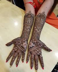 Front Mehndi Design Bridal Hand