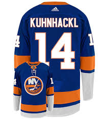 Tom Kuhnhackl New York Islanders Adidas Authentic Home NHL Jersey
