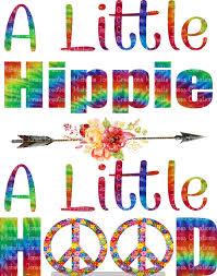 A Little Hippie A Little Hood Sublimation Mjctransfers