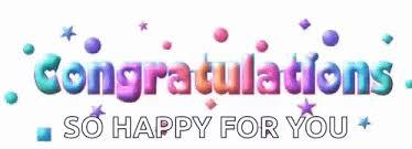 Congratulations So Happy For You GIF - Congratulations SoHappyForYou  Celebrate - Discover & Share GIFs | Congratulations gif, Congratulations,  Happy