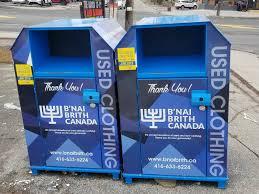 clothing donation bins offer plex