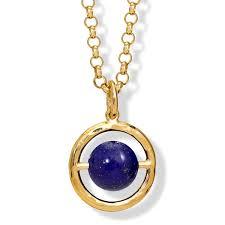 archipelago lapis lazuli gold pendant