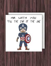 Captain America Birthday Card Marvel Birthday Card Geek Birthday