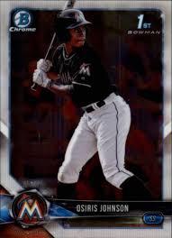 Amazon.com: 2018 Bowman Draft Chrome #BDC-103 Osiris Johnson Miami Marlins  RC Rookie MLB Baseball Trading Card: Collectibles & Fine Art