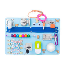 Amazon Com Montessori Busyboard Busy Board Sensory Board Study Board Wood Board Activity Board Locks And Latches Activity Board 12 60 Month Baby
