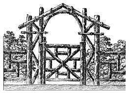 6 Gate Clipart Vintage In 2020 Log Fence Clip Art Vintage Fence Design