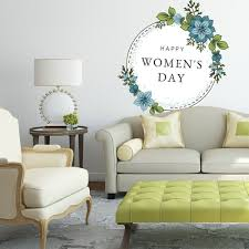 Shop Flowers Woman Day March Full Color Wall Decal Sticker K 1279 Frst Size 40 X40 Overstock 21678764