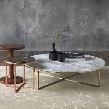 porto round marble coffee table