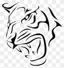 Tiger Head Decal Sticker In Car Tiger Clipart 1037732 Pinclipart