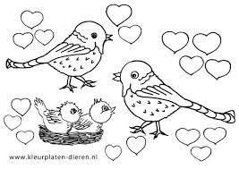 Hartjes Kleurplaat Vogels Kleurplaten Dierenkleurplaten Dieren