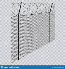 Barbed Wire Fence On Transparent Background Stock Vector Illustration Of White Black 165094889