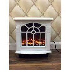 portable 2kw white log burner electric
