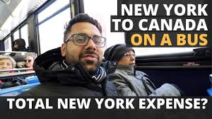 new york to canada in bus crossing