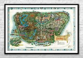 Disneyland Map 1962 Walt Disney Nursery Disneyland Wall Art Retouched Vintage Ebay