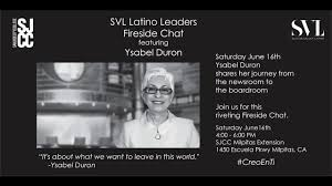 Latino Leaders Fireside Chat featuring Ysabel Duron - YouTube