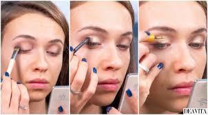 party makeup tutorial gold cut crease
