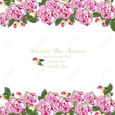 Tarjeta De Acuarela Geranio Flores Borde Floral Para Tarjetas De