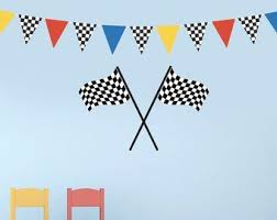 Large Racing Checkered Flags Wall Decals Removable And Etsy Checkered Flag Decal Wall Decals Wall Stickers