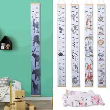 Height Charts Baby Products Kids Growth Chart Cartoon Girl Bird Flower Sticker Decal Pvc Wall Hanging Measuring Rulers For Kids Boys Girls Room Decoration Nursery Removable Height And Growth Chart