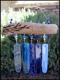 driftwood and glass mini wind chime