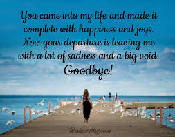 goodbye messages for girlfriend farewell quotes for her