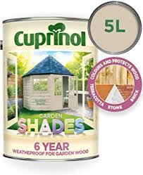 Cuprinol Cupgsns5l 5 Litre Garden Shades Paint Natural Stone Amazon Co Uk Diy Tools