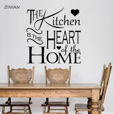 Kitchen Quote Wall Stickers The Kitchen Is The Heart Of The Home Vinyl Wall Decals Home Interior Decoration Dining Room Z129 Wall Sticker Quote Wall Stickerinterior Decor Aliexpress